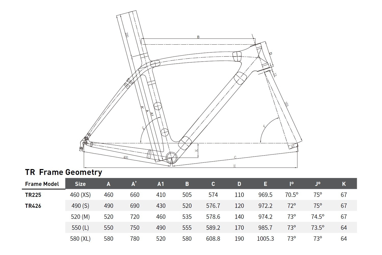 UCI approved road carbon frame TRIGON TR001 (TR426) BSA ...