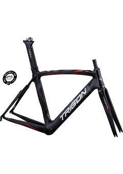 fb52eae7f8 UCI certifikovaný silniční karbonový rám TRIGON TR821 červeno-černý